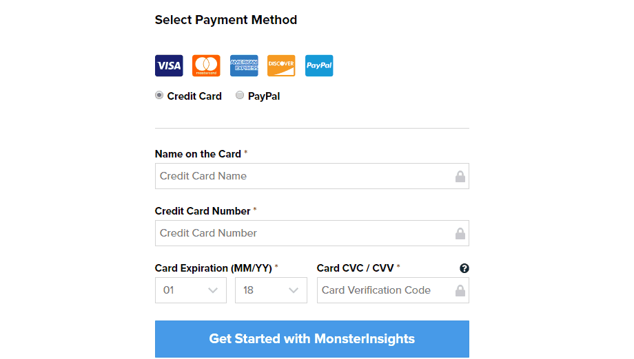 monsterinsights payment gateway