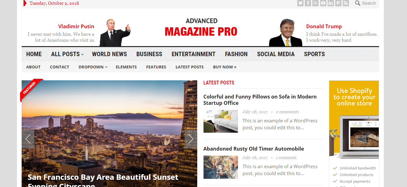 advance magazine theme
