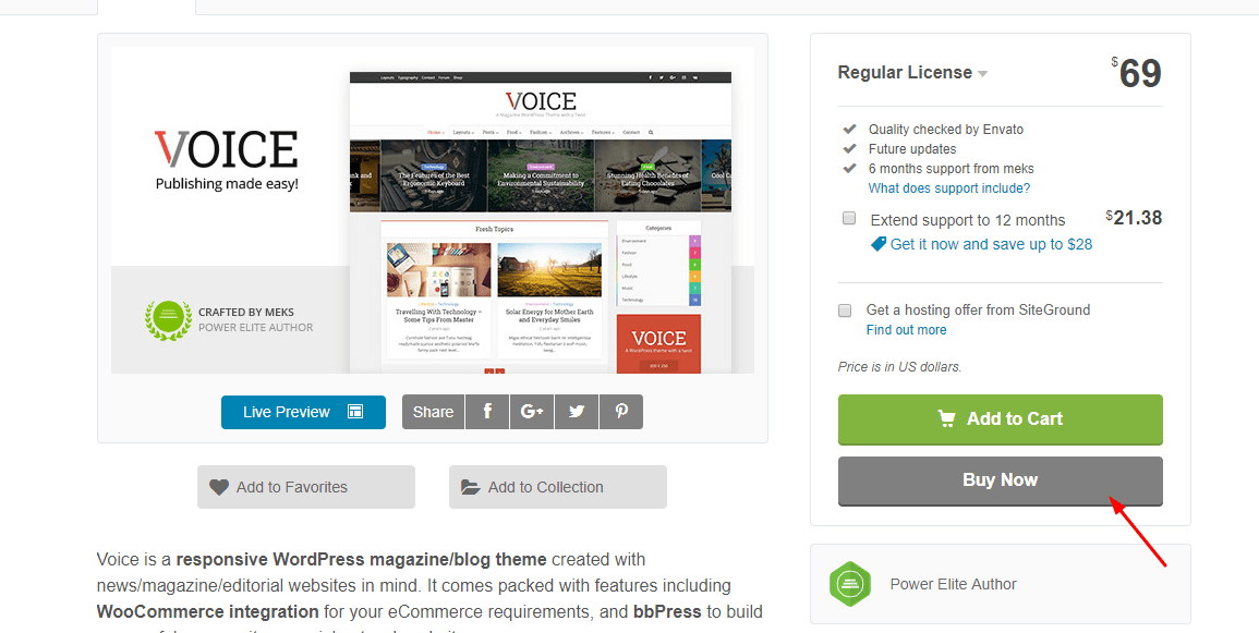 purchase voice wordpress theme
