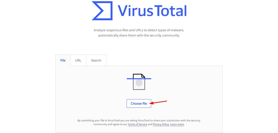 upload file to virustotal