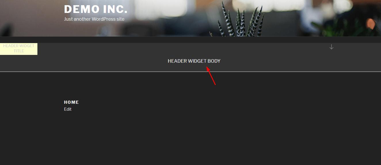 new custom header widget