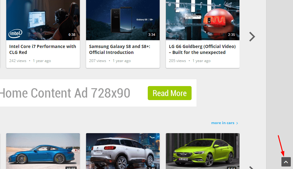 fastvideo back to top button on site