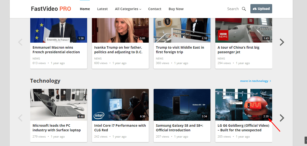 video duration on fastvideo thumbnail