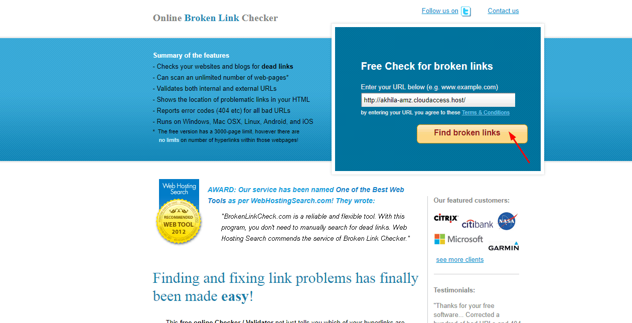 find broken link checker online
