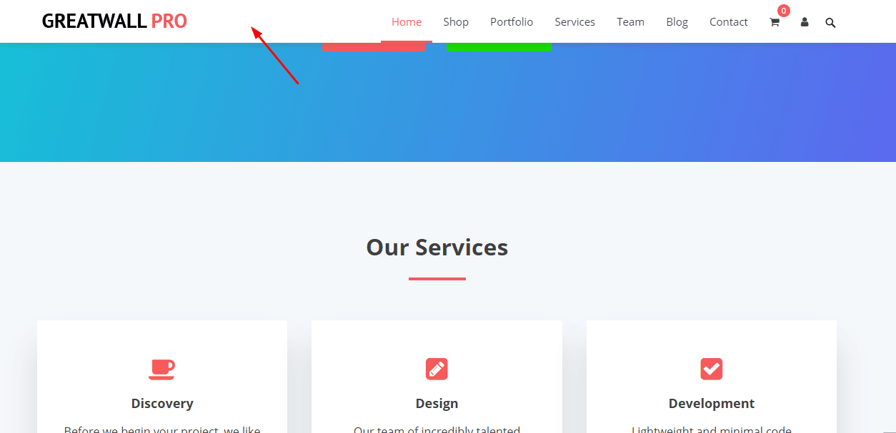 make fixed navigation menu on greatwall theme