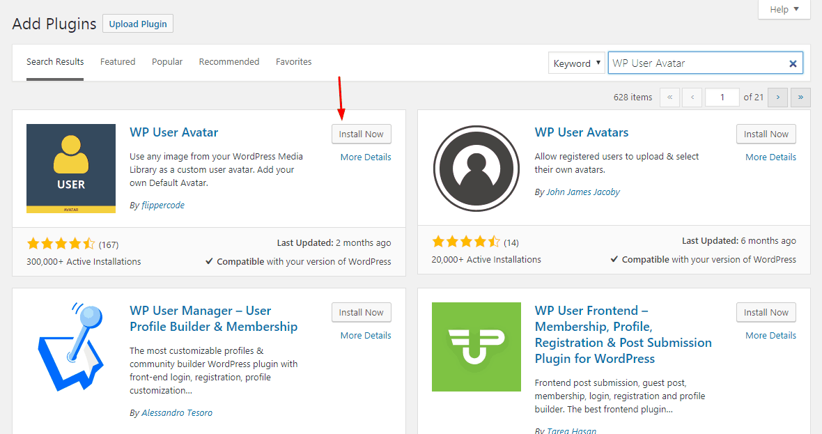 Add Custom WordPress User Avatar