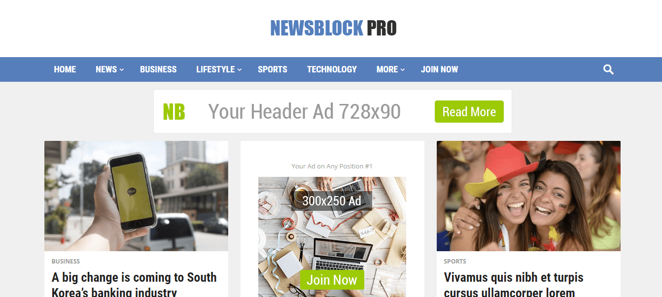 newsblock wordpress theme