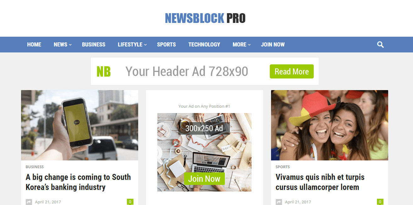 NewsBlock Theme Review – HappyThemes News Theme
