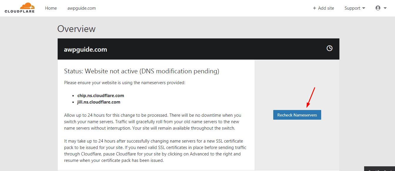 cloudflare domain recheck