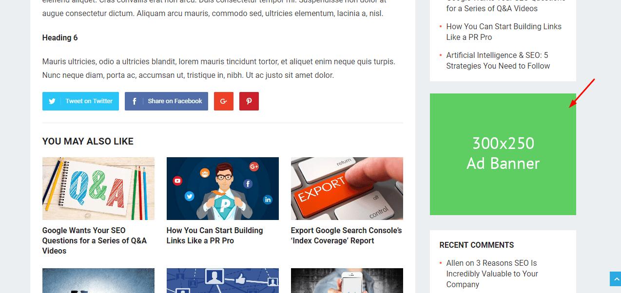 revenue pro ad widget