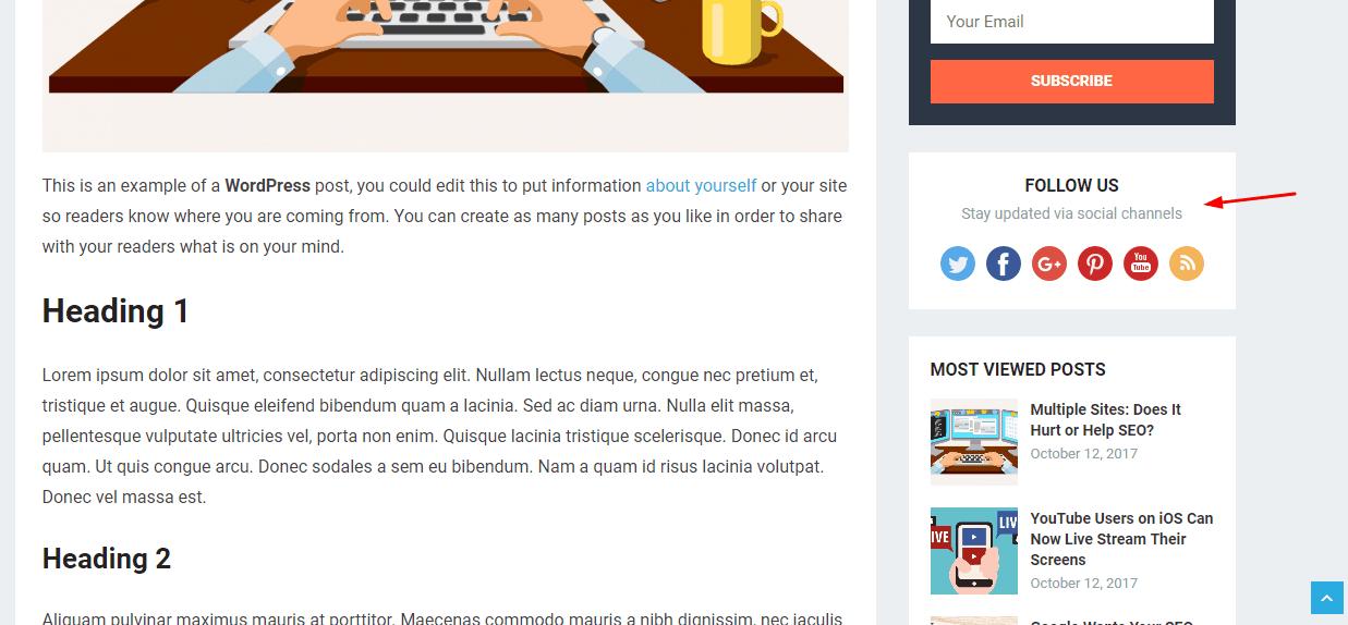 revenue pro social widget