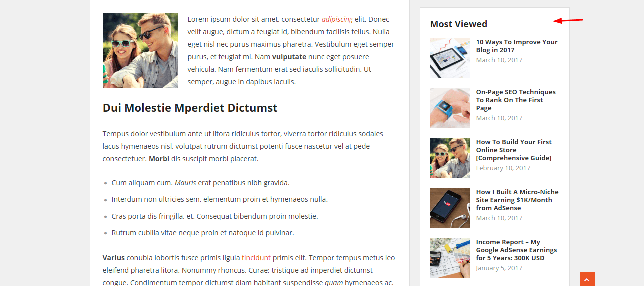 starter wordpress theme popular posts