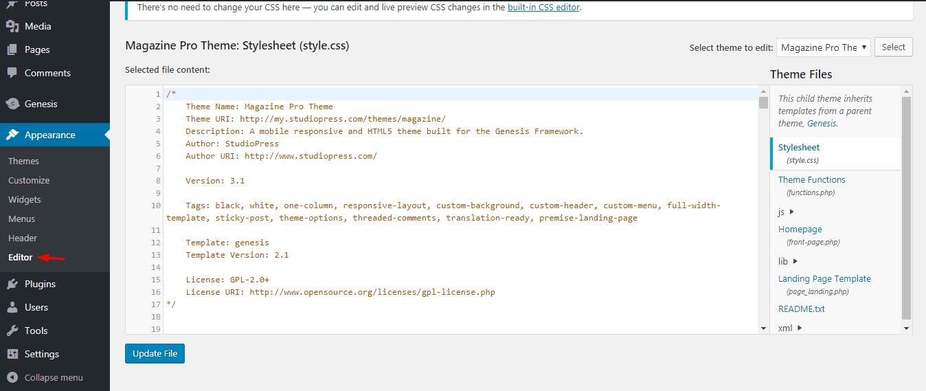 Cómo cambiar el nombre del tema de WordPress