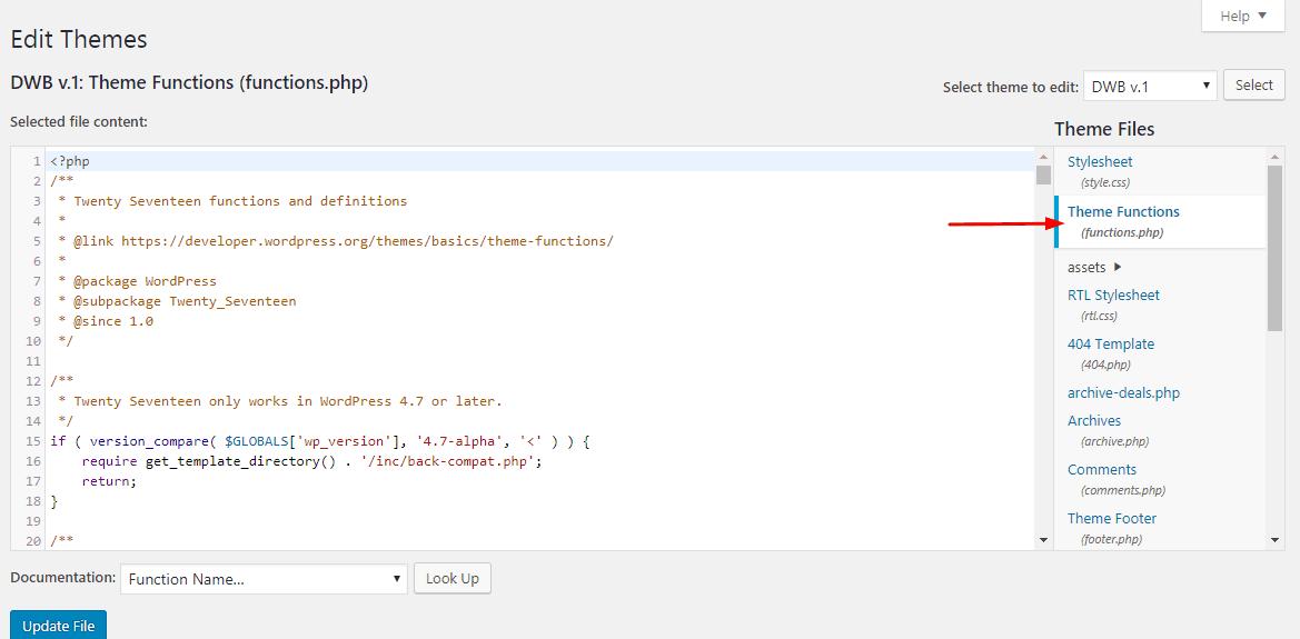 wordpress theme functions