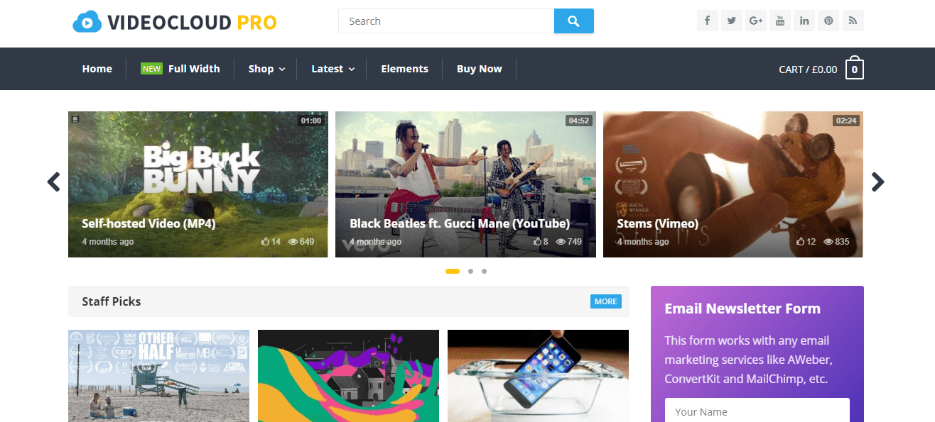 videocloud wp theme