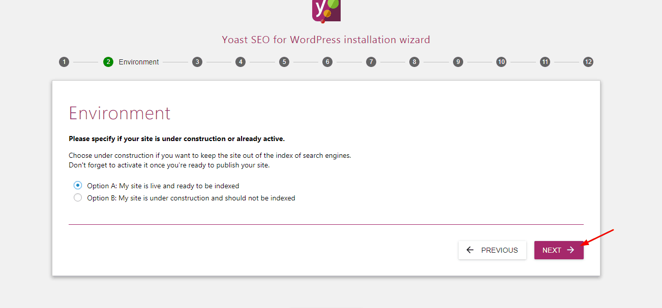 yoast website environment