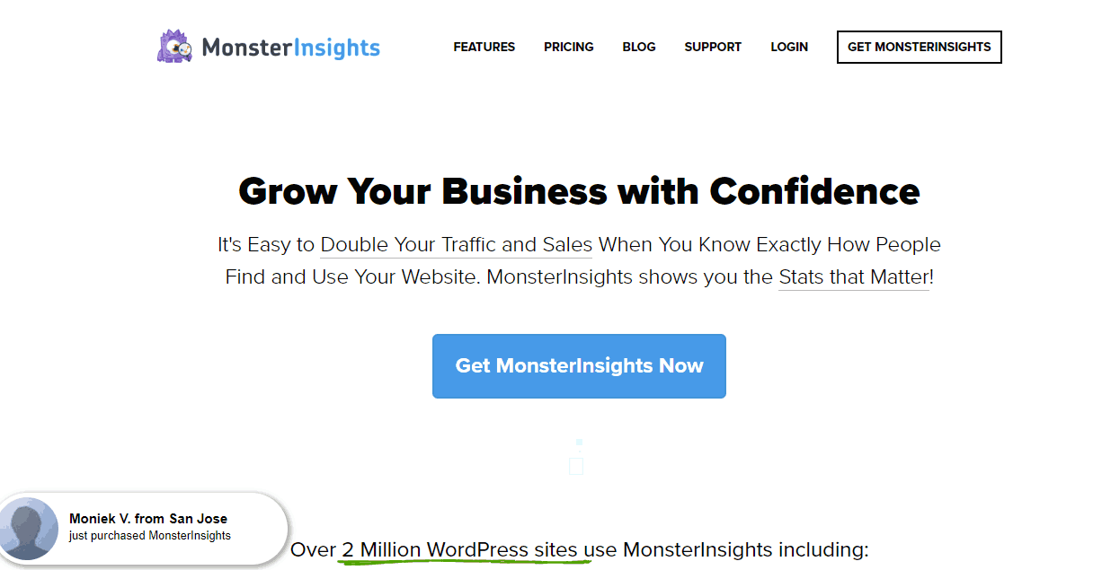 monsterinsights plugin home