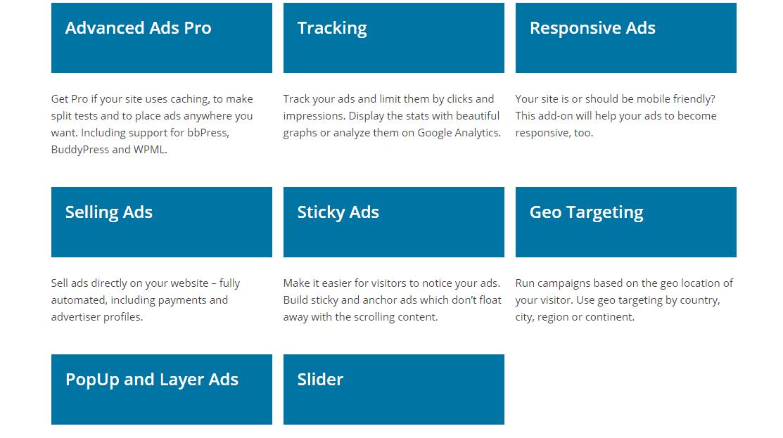 wp advanced ads add-ons