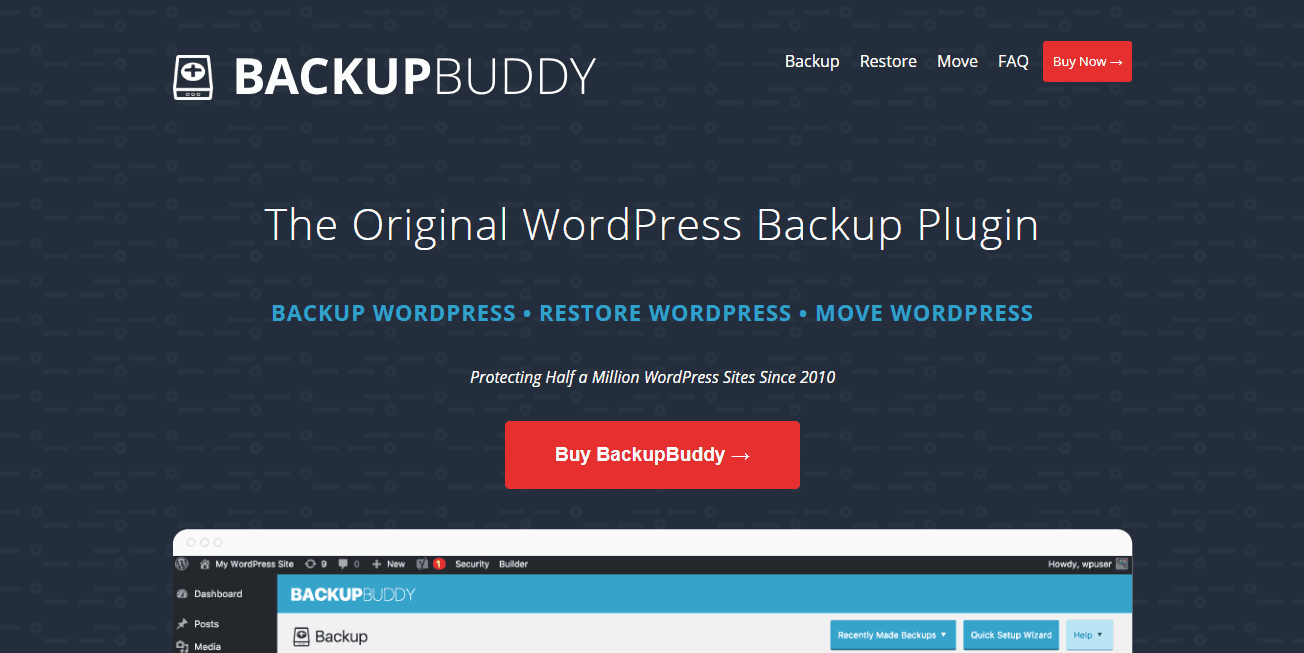 backupbuddy plugin in blueprint