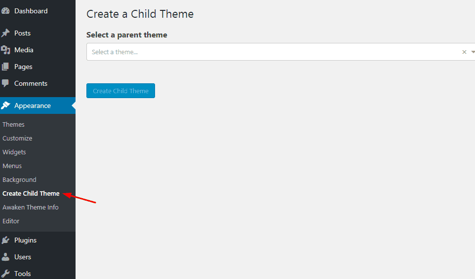 child themify plugin settings