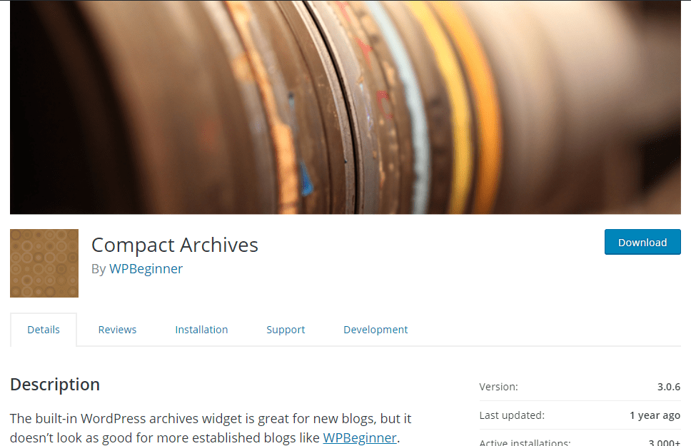 compact archives plugin blueprint