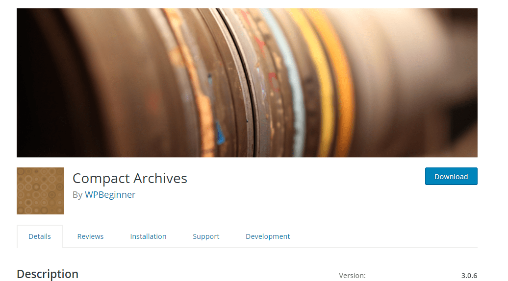 compact archives plugin