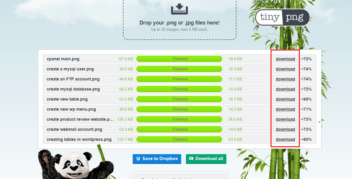 tinypng download option