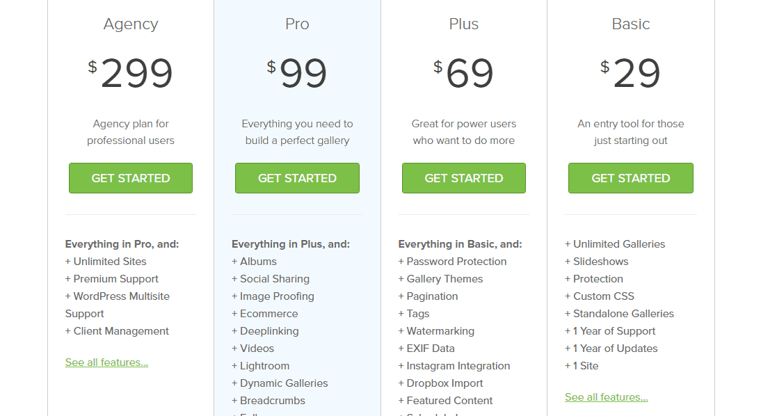 enviragallery plugin plans and pricing