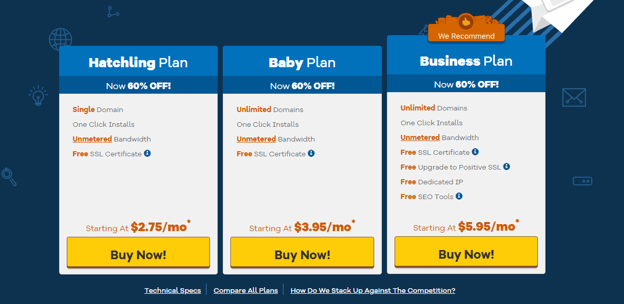 shared hosting by hostgator