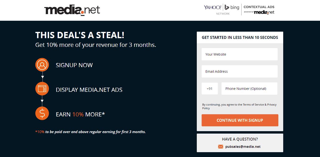 Cupón de media.net