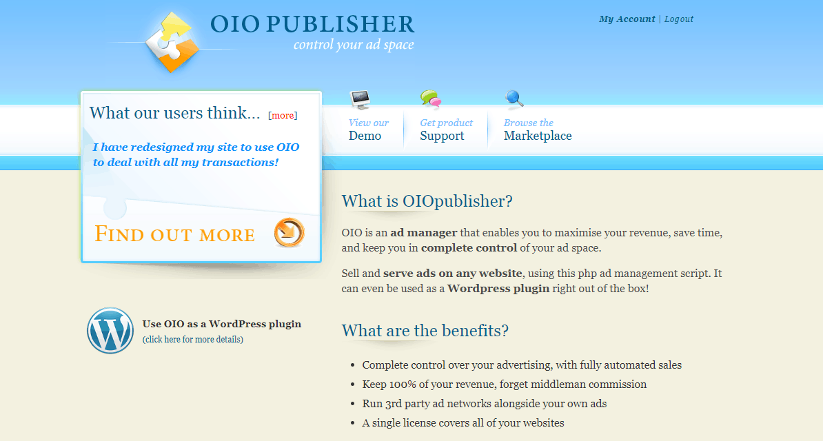 OIO publisher plugin