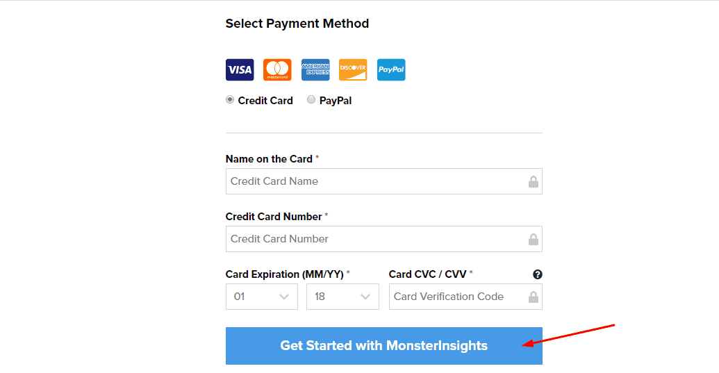 pay for MonsterInsights plugin