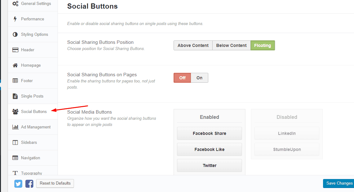 social sharing buttons in schema theme