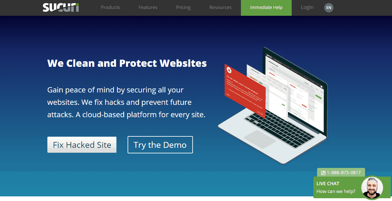 sucuri security on blueprint page