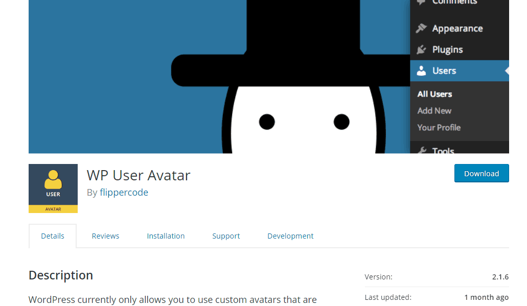 wp user avatar plugin blueprint