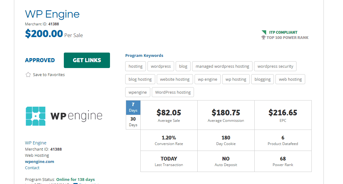 WP Engine Affiliate Program Review: $200 For a Single Sale!