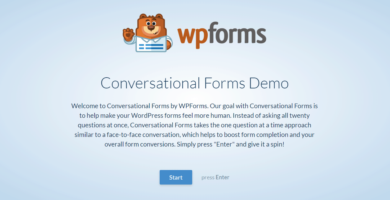 WPForms and Conversational Forms – A Brand New Experience!