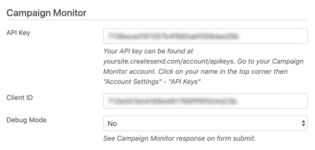 campaign monitor formidable add-on