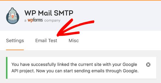 wp mail smtp linked