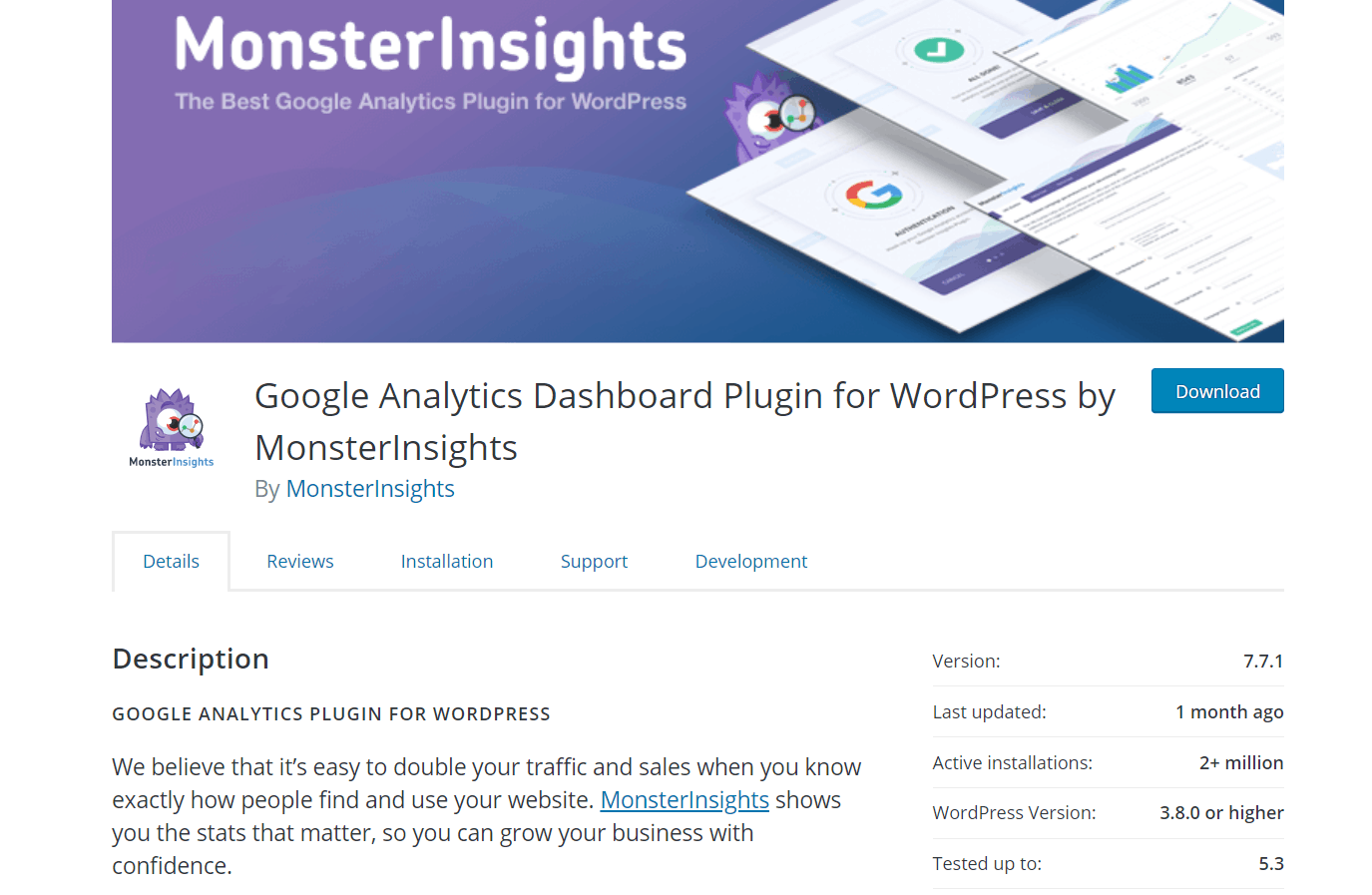 monsterinsights free version