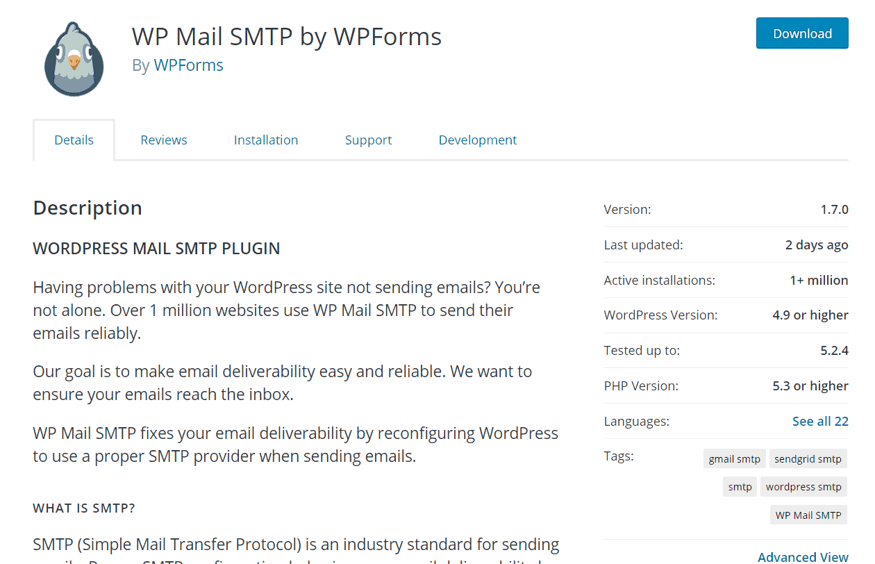 wp mail smtp free