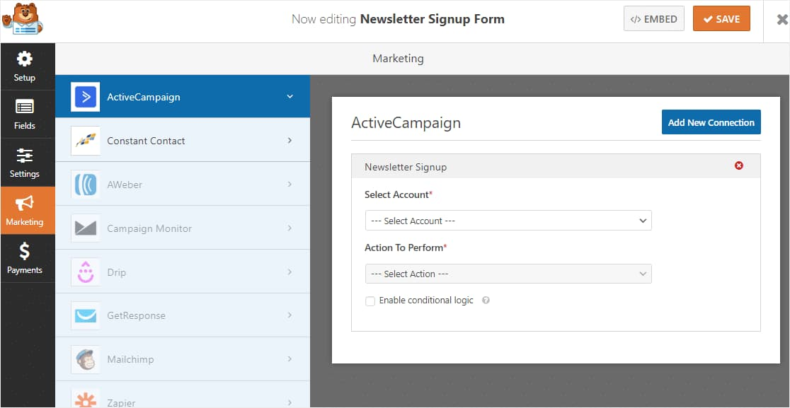 Integrate ActiveCampaign With WPForms