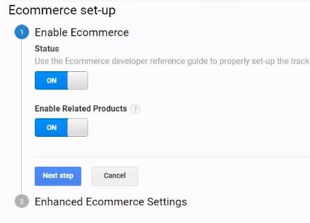 enable ecommerce tracking