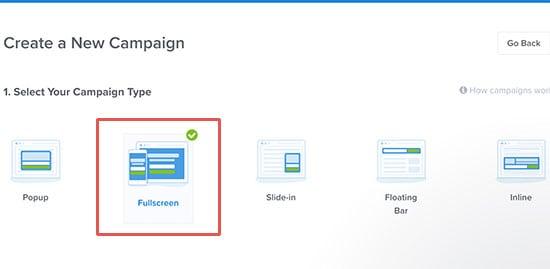 fullscreen campaigns