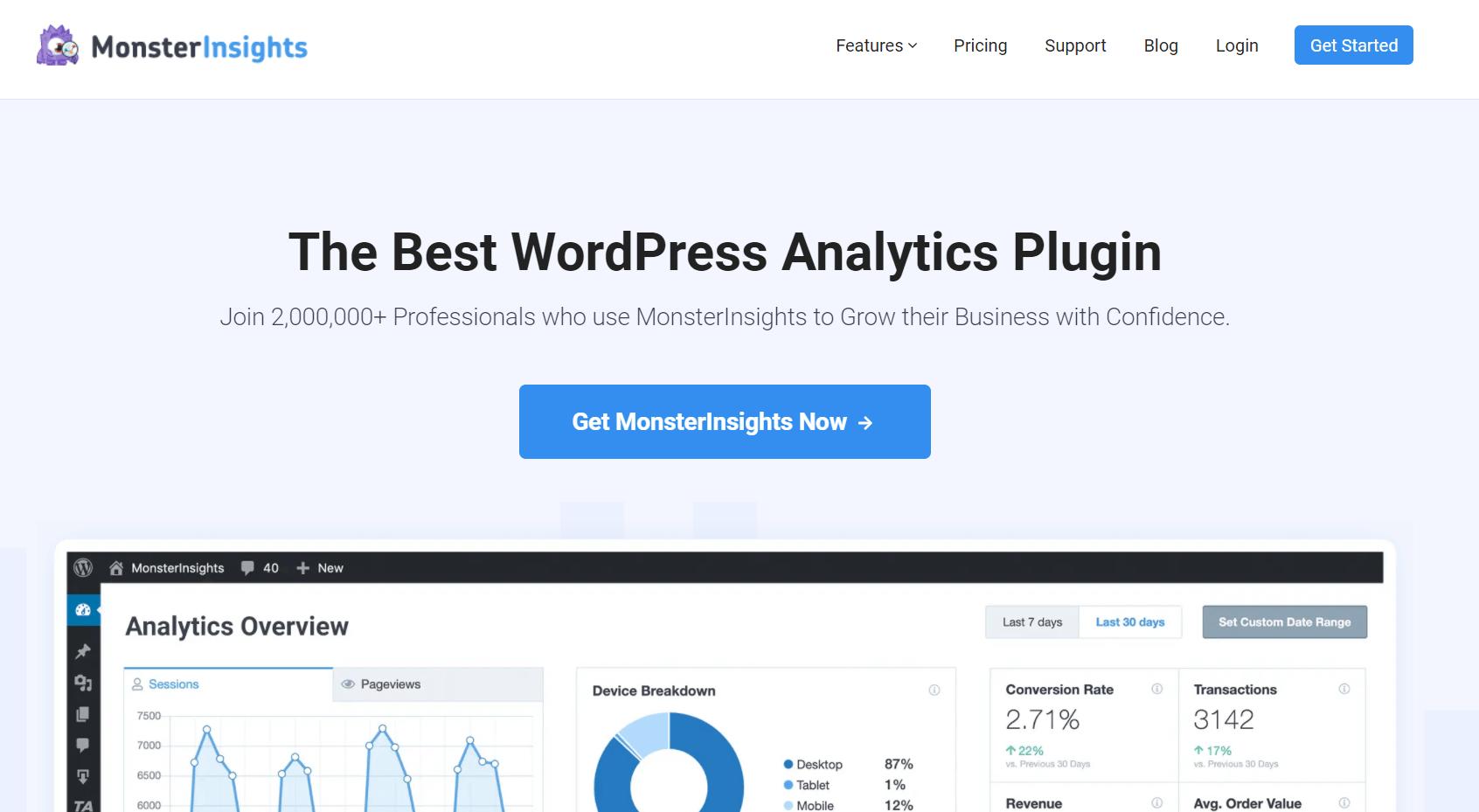 monsterinsights premium plugin