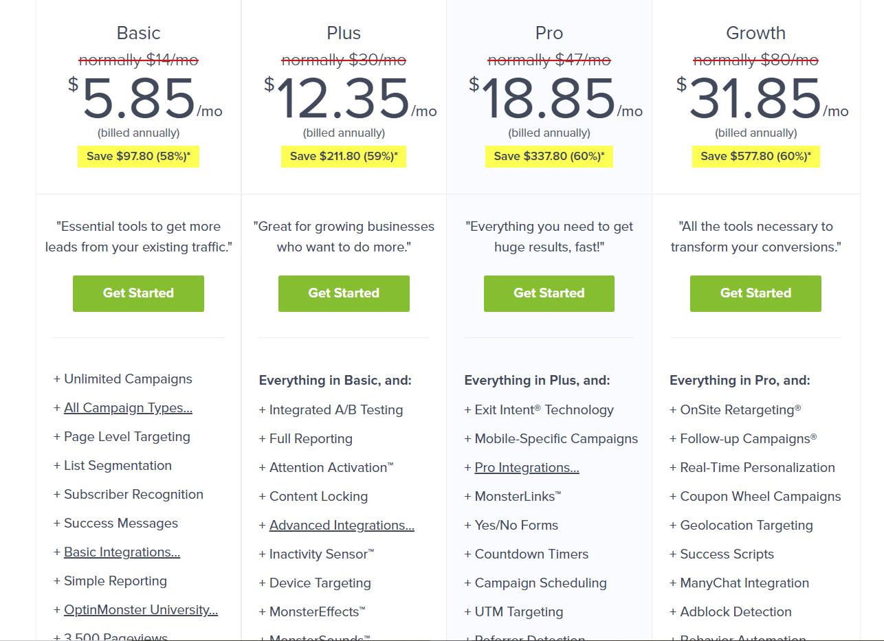 optinmonster pricing