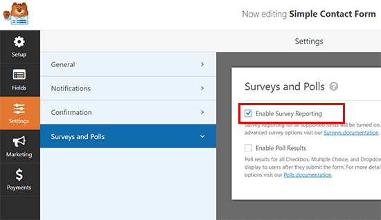 surveys and polls section